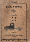 A2 and B2 parts catalog Cover page 00
