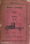 Model A-3 parts catalog mt-21A page 00 front cover