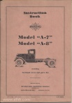 Model A-7 A-8 instruction book page 00 front cover