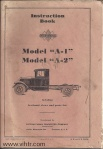 Model A1 A2 instruction book front cover