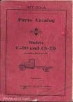 Model C-30 CS-30 parts catalog mt-30a page 00 front cover