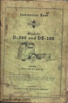 Model D-300 and DS-300 Page 00 front cover