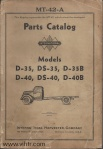Model D-35- D-40B Page 00 front cover