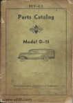 Model D15 parts catalog Page 00 front cover