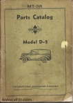Model D2 parts catalog Page 00 front cover