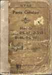 Model D35 DS35 D35B D40 DS40 parts catalog Page 00 front cover