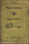 Model DR-70 parts catalog mt-43 page 00 front cover