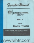 Model H or 21 operators manual Cover page 00