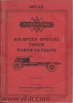 MT-12 parts catalog six speed special page 00 front cover
