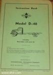 Model D-40 instruction book