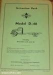Model D-40 instruction book