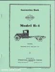 Model B-4 instruction book