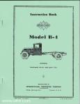 Model B-4 instruction book