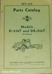 MT-46 Model D-216T and DS-216T parts catalog